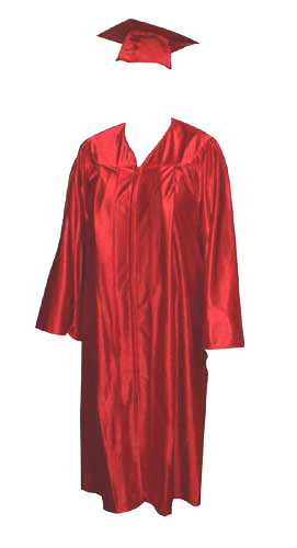 High School Gown - RED