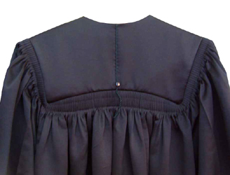 Masters Gown DELUXE - Black Color in Matte Finish - BACK