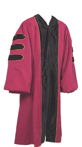 Doctoral Gowns Packages in Matte Finish with Velvet and Piping