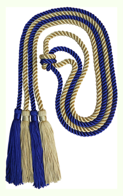 Honor Cord - LIGHT GOLD AND NAVY BLUE COLOR