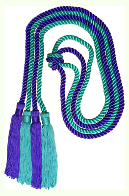 Honor Cord - KELLY GREEN AND PURPLE COLOR
